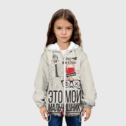 Куртка с капюшоном детская Мой мальчишник цвета 3D-белый — фото 2