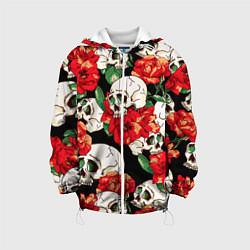 Детская куртка Черепки и розы