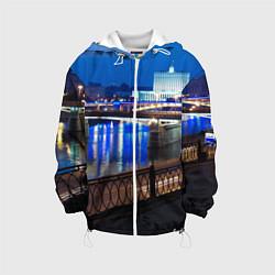 Куртка с капюшоном детская Москва цвета 3D-белый — фото 1