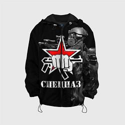 Куртка с капюшоном детская Спецназ 16 цвета 3D-черный — фото 1