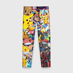 Леггинсы для девочки Pokemon Bombing цвета 3D — фото 1
