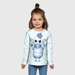 Лонгслив детский Santa Sans цвета 3D — фото 2