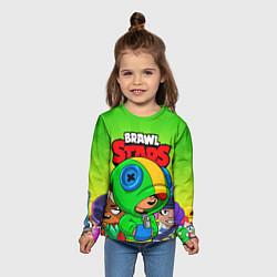 Лонгслив детский BRAWL STARS LEON цвета 3D-принт — фото 2