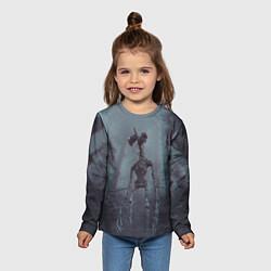 Лонгслив детский Сиреноголовый цвета 3D-принт — фото 2