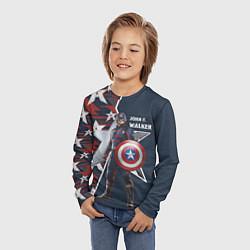 Лонгслив детский Marvel Капитан Америка цвета 3D — фото 2