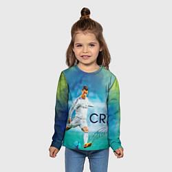 Лонгслив детский CR Ronaldo цвета 3D-принт — фото 2