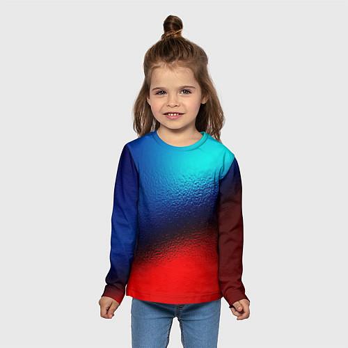 Детский лонгслив Синий и красный / 3D – фото 5