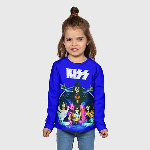 Детский лонгслив Kiss Show / 3D – фото 5