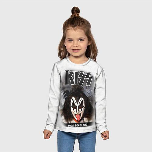 Детский лонгслив KISS: Adult demon wig / 3D – фото 5