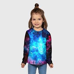 Лонгслив детский Голубая вселенная цвета 3D — фото 2