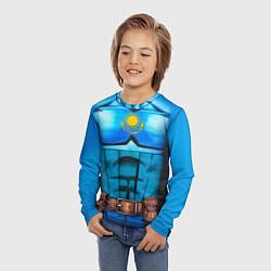 Лонгслив детский Капитан Казахстан цвета 3D — фото 2
