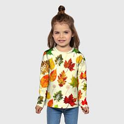 Лонгслив детский Осень цвета 3D — фото 2