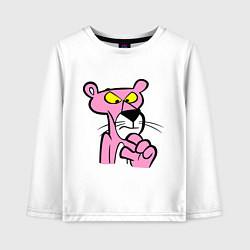 Лонгслив хлопковый детский Розовая пантера цвета белый — фото 1