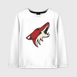 Лонгслив хлопковый детский Phoenix Coyotes цвета белый — фото 1