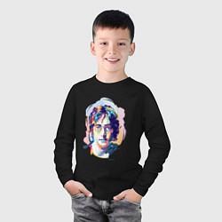 Лонгслив хлопковый детский John Lennon: Art цвета черный — фото 2