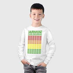 Лонгслив хлопковый детский Armin van Buuren: EQ цвета белый — фото 2