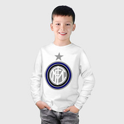 Лонгслив хлопковый детский Inter FC цвета белый — фото 2