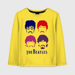 Лонгслив хлопковый детский The Beatles faces цвета желтый — фото 1