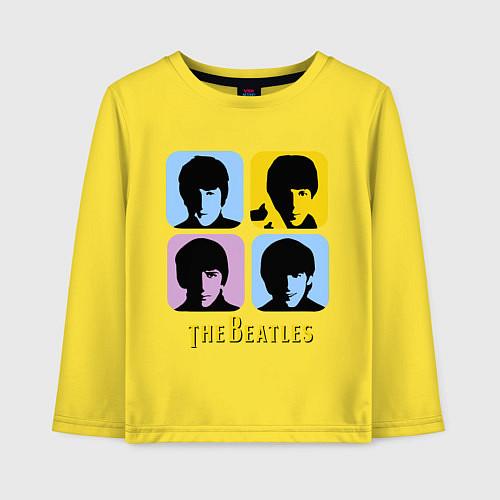 Детский лонгслив The Beatles: pop-art / Желтый – фото 1