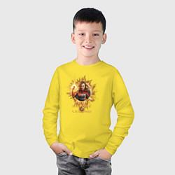 Лонгслив хлопковый детский Capt Marvel: Become a Legend цвета желтый — фото 2