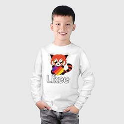 Лонгслив хлопковый детский Likee LIKE Video цвета белый — фото 2