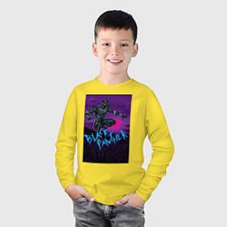 Лонгслив хлопковый детский Черная Пантера Мстители цвета желтый — фото 2