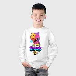 Лонгслив хлопковый детский BRAWL STARS SANDY цвета белый — фото 2