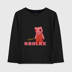 Лонгслив хлопковый детский ROBLOX: PIGGI цвета черный — фото 1