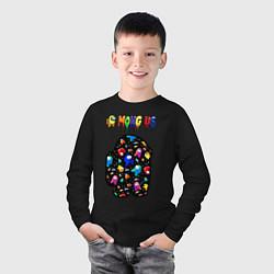 Лонгслив хлопковый детский AMONG US цвета черный — фото 2