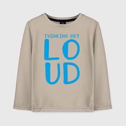 Лонгслив хлопковый детский Thinking Out: Loud цвета миндальный — фото 1