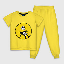 Пижама хлопковая детская Nightmare before christmas цвета желтый — фото 1