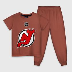 Пижама хлопковая детская New Jersey Devils: Kovalchuk 17 цвета кирпичный — фото 1