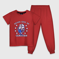 Пижама хлопковая детская WWE Never Give Up цвета красный — фото 1
