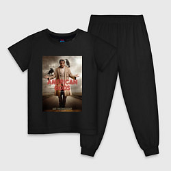 Пижама хлопковая детская American Gods: Mr. Wednesday цвета черный — фото 1