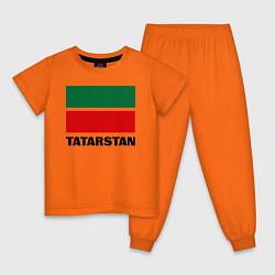 Пижама хлопковая детская Флаг Татарстана цвета оранжевый — фото 1