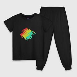 Пижама хлопковая детская Blade Runner 2049: Colour цвета черный — фото 1