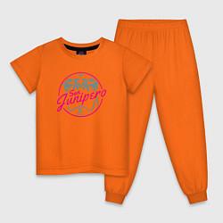 Пижама хлопковая детская San Junipero 1987 цвета оранжевый — фото 1