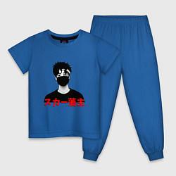 Пижама хлопковая детская Scarlxrd цвета синий — фото 1