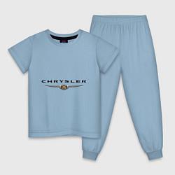 Пижама хлопковая детская Chrysler logo цвета мягкое небо — фото 1