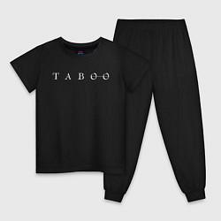 Пижама хлопковая детская Taboo цвета черный — фото 1