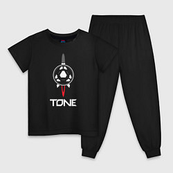 Пижама хлопковая детская TONE цвета черный — фото 1