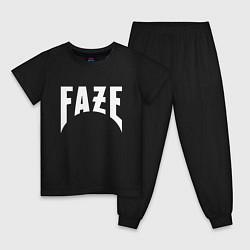 Пижама хлопковая детская FAZE цвета черный — фото 1