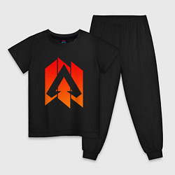 Пижама хлопковая детская Apex Legends: Symbol цвета черный — фото 1