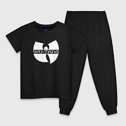 Пижама хлопковая детская WU TANG CLAN цвета черный — фото 1