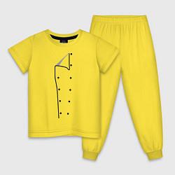 Пижама хлопковая детская Шеф повар цвета желтый — фото 1