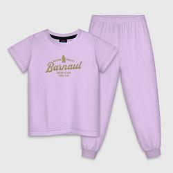 Пижама хлопковая детская Барнаул цвета лаванда — фото 1