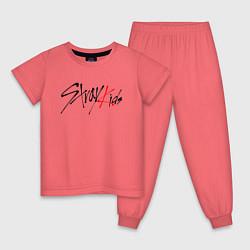 Пижама хлопковая детская STRAY KIDS FELIX цвета коралловый — фото 1