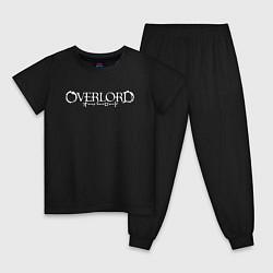 Пижама хлопковая детская OVERLORD НА СПИНЕ цвета черный — фото 1