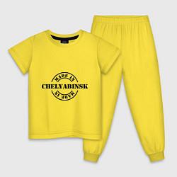 Пижама хлопковая детская Made in Chelyabinsk цвета желтый — фото 1