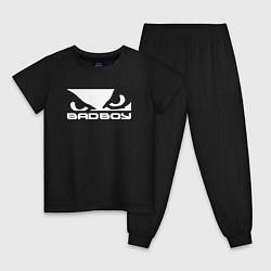 Пижама хлопковая детская BADBOY цвета черный — фото 1